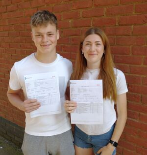 2021 a levels harry ashmore and abbie potter